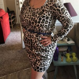 Dresses & Skirts - Hand made leopard print dress with pockets! XL 16